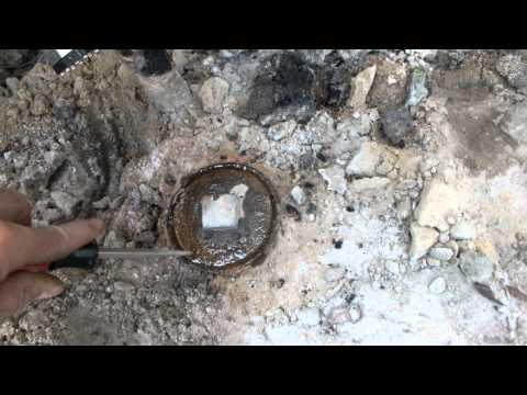 KROIL on stuck  BRASS CLEANOUT old rusted  IRON PIPE