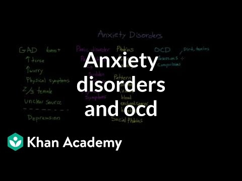 Anxiety disorders and obsessive compulsive disorder | Behavior | MCAT | Khan Academy
