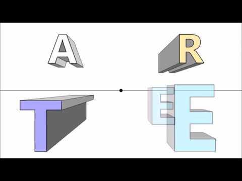 Prospettiva centrale 3 lettere fonts in 1 point for Disegnare una stanza in 3d