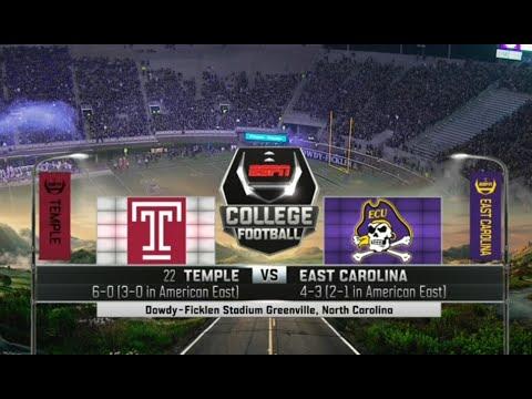 (22) Temple vs East Carolina Full Game NCAA Football 22/10/2015