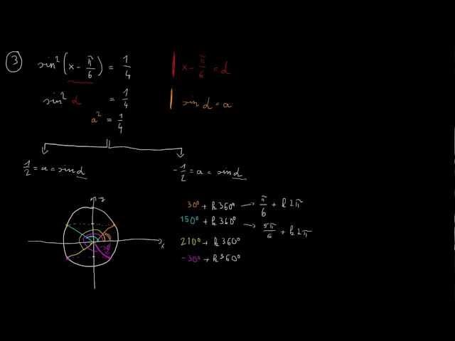 Trigonometrikus egyenletek - 3. feladat