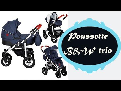 Poussette Black & White trio 3 en 1 : déballage et montage
