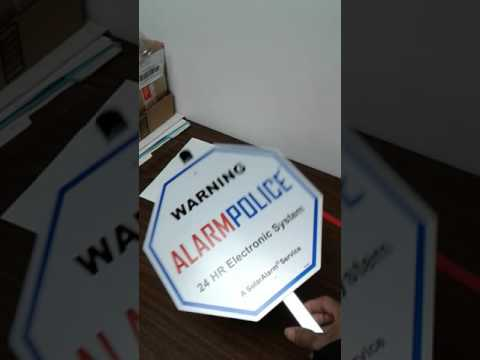 How to install Yard Sign to aluminum post stake