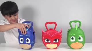 PJ MASKS Surprise Toys Opening Fun With Catboy Owelette Gekko TBTFUNTV