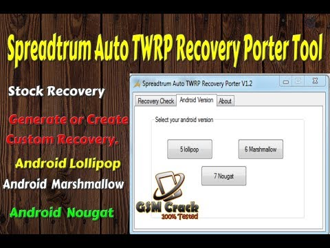 Spreadtrum Auto TWRP Recovery Porter V1 2 100% Working