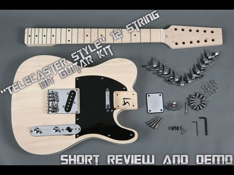 DIY Kit Guitar Telecaster Style 12 String With Natural Finish