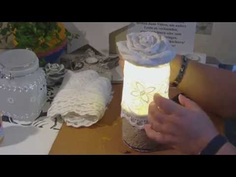beton giessen diy betonlampe lampe aus beton rosenlampe youtube. Black Bedroom Furniture Sets. Home Design Ideas