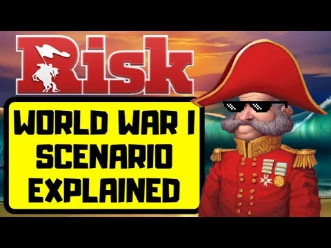 HOW TO BEAT WORLD WAR 1 SCENARIO   Risk Global Domination Strategy Tips and Tricks