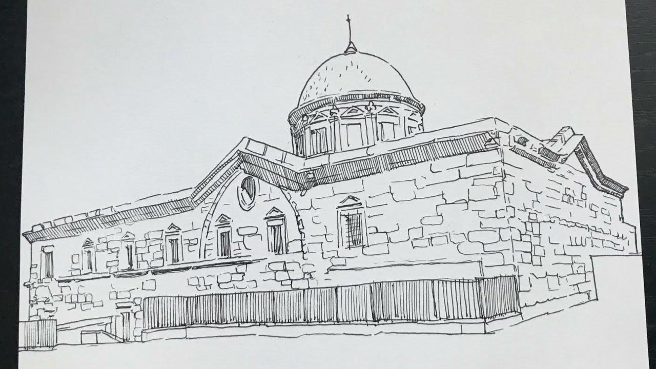 Kayseri Meryem ana kilisesi çizimi