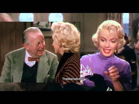 MARILYN MONROE in Gentlemen prefer Blondes - Funniest Moments - Philosophy of a Material Girl