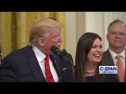 White House Press Secretary Sarah Sanders to leave White House (C-SPAN)