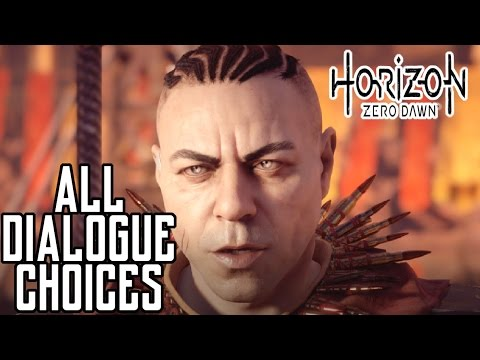 Horizon Zero Dawn - Helis captures Aloy - All Dialogue Choices - The Terror of the Sun