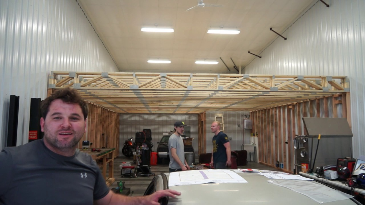 Building a mezzanine youtube for How to build a mezzanine floor in a garage