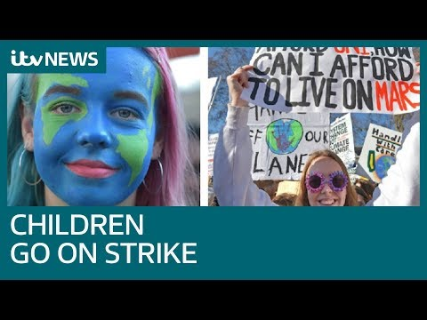 Students go on strike from school in climate change protest | ITV News