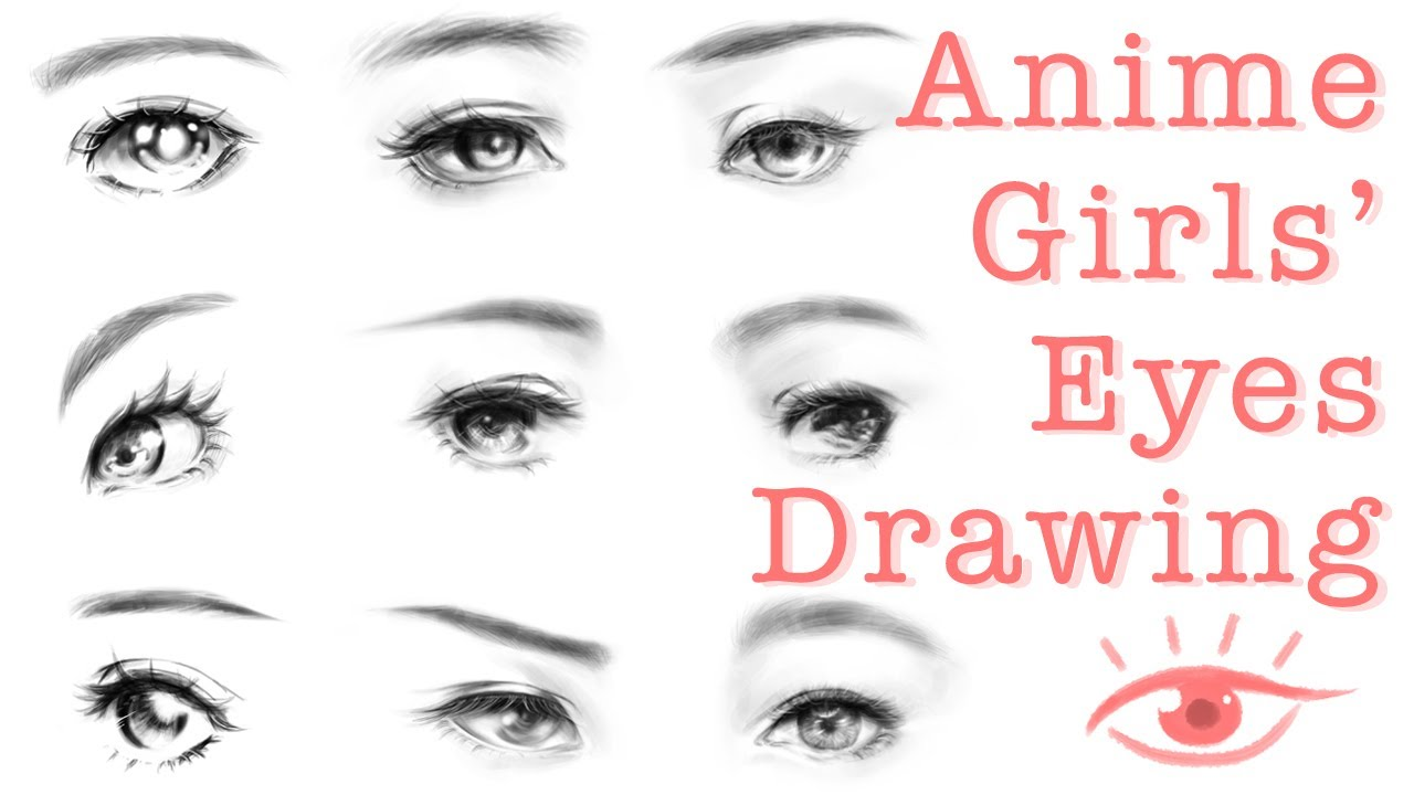 How to Draw Anime Girl Eyes - Manga Girl Eyes Digital Drawing Tutorial  動漫女生眼睛 Photoshop電繪