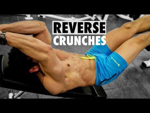 Abs Workout - Decline Bench Reverse Crunches