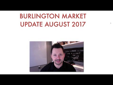 Monthly Market Watch for Burlington Ontario - August 2017 Edition