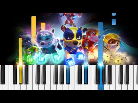 PAW Patrol  The Mighty Pups Theme Song  Piano Tutorial
