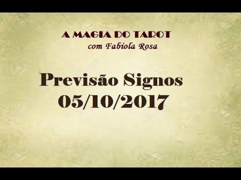 Previsão para todos os Signos 05/10/2017 | A MAGIA DO TAROT com Fabíola Rosa