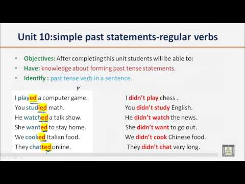 grammar-b1---u10---simple-past-statements-regular-verbs