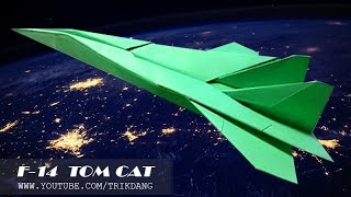How to make a paper airplane - Best origami paper jet fighter that FLIES FAST | F-14 Tomcat