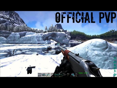 HUGE ICE ISLAND RAID DEFENSE w/ Turtle Taming - Official PVP (E55) - ARK Survival