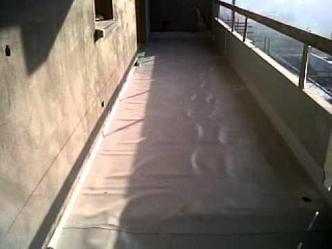 Guaina in pvc per terrazzi Residenze al Parco - YouTube