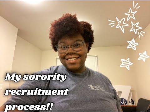 MY SORORITY RECRUITMENT PROCESS || at The University of South Carolina Beaufort
