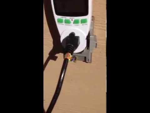 Plug and play solar panel setup.