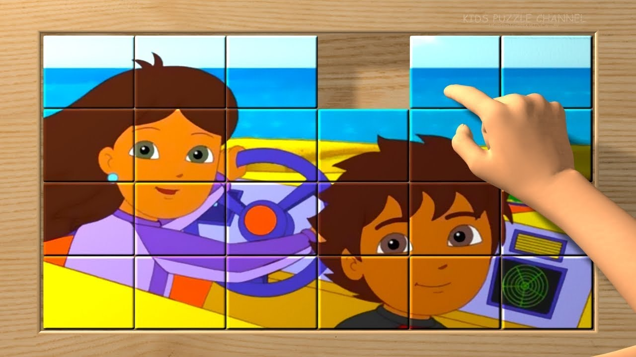 go diego go puzzle blocks game for kids puzzles box youtube. Black Bedroom Furniture Sets. Home Design Ideas