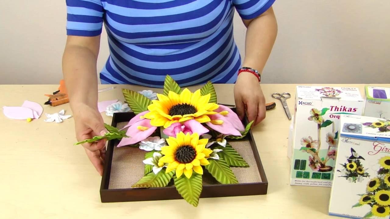 TUTO: Cuadro de Flores Girasoles Alcatraces Decoración