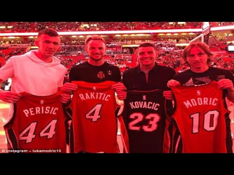 Croatia squad attend Miami Heat game as Luka Modric, Ivan Rakitic, Ivan Perisic and Co watch