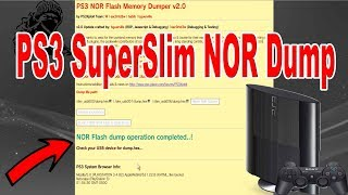 PS3 SuperSlim 4001C NOR Dump With New PS3Xploit 2.0 Tools ( USE ANY USB PORT )