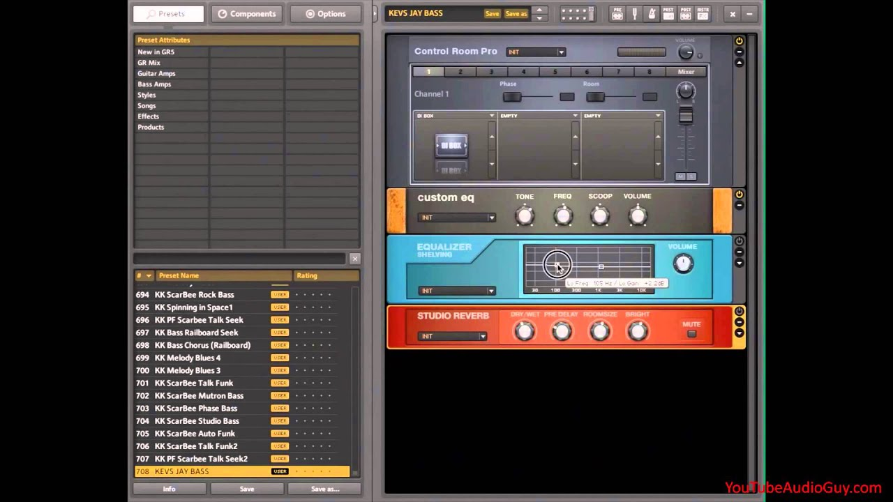 Studio Bass Amp - Native Instruments Guitar Rig - Pt 2 of 2 - YouTube