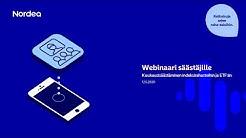 Webinaari säästäjille: Kuukausisäästäminen ETF- ja indeksirahastoihin   Nordea Pankki 12.5.2020