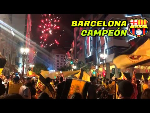 Así celebro ECUADOR (BARCELONA SC CAMPEÓN 2020) LigaPro (Liga vs Barcelona) 29/12/2020