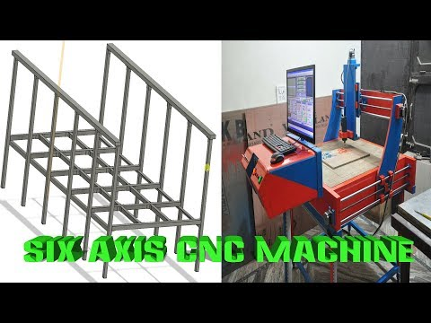 Building a Six Axis CNC Router Machine - Steel Base Part-1