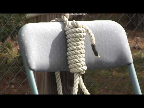 Noose on empty chair display in Horry County South Carolina