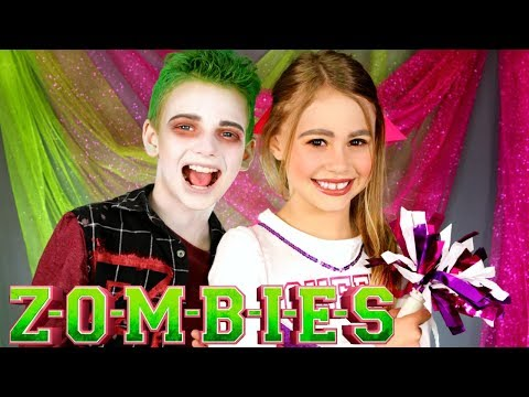 Disney ZOMBIES Addison and Zed Makeup and Costumes