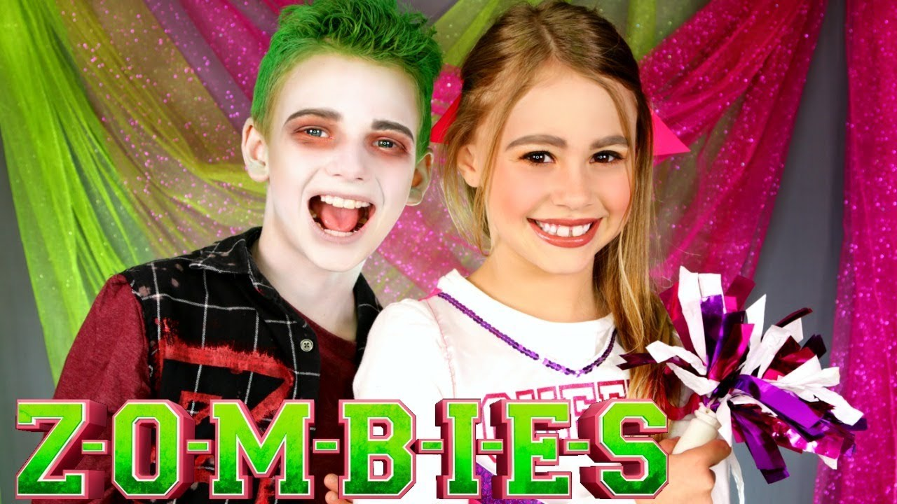 Disney Zombies Addison And Zed Makeup And Costumes Youtube