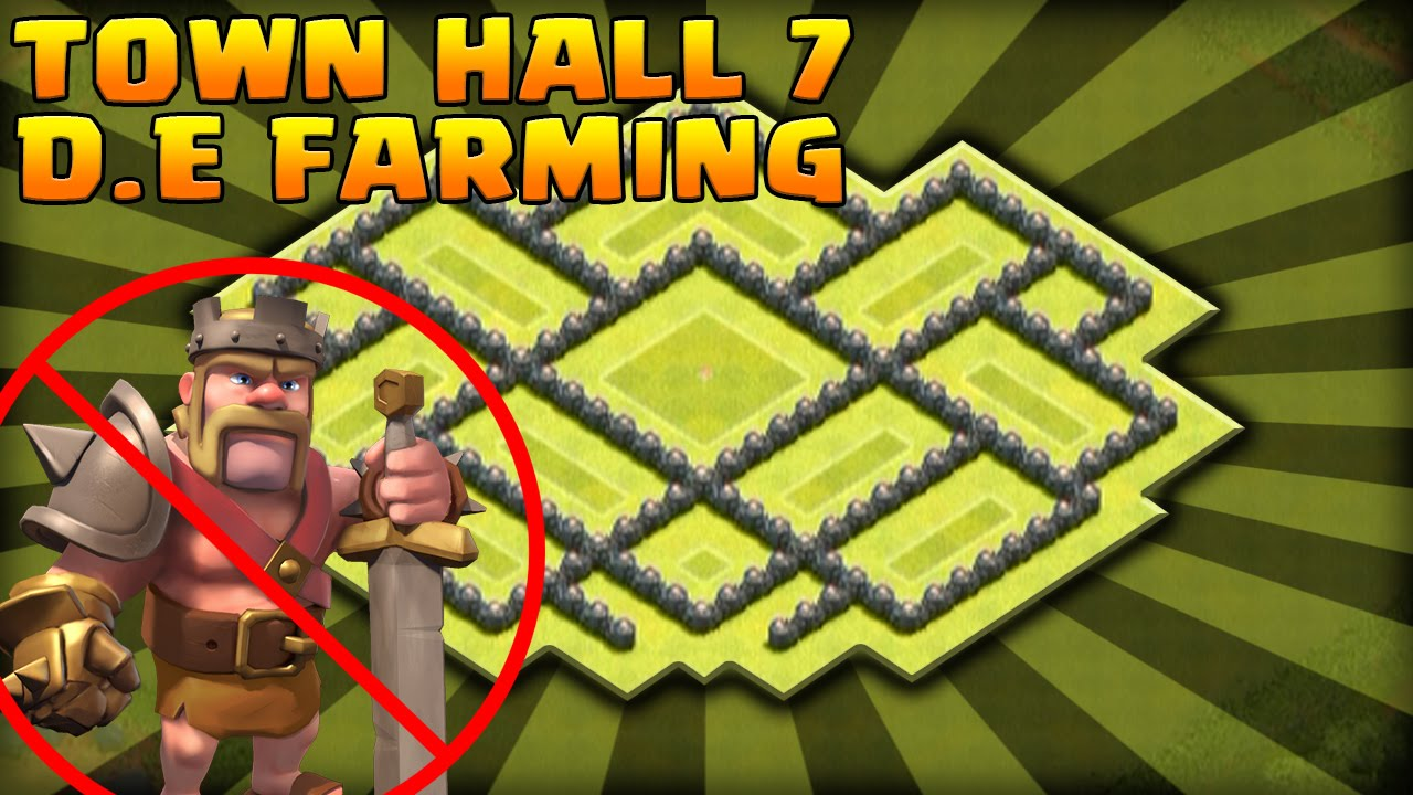 Town Hall 7 Farming Base Without Barbarian King