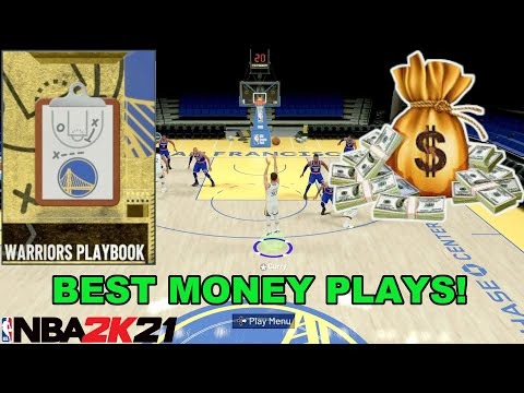 NBA2K21 - BEST MONEY PLAYS  TO GET WIDE OPEN! GOLDEN STATE WARRIORS PLAYBOOK TUTORIAL!