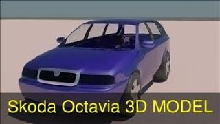 3D Model of Skoda Octavia Review
