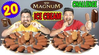 20 MAGNUM ICE CREAM EATING CHALLENGE | FASTEST MAGNUM EATING CHALLENGE | WORLD RECORD (Ep-229)