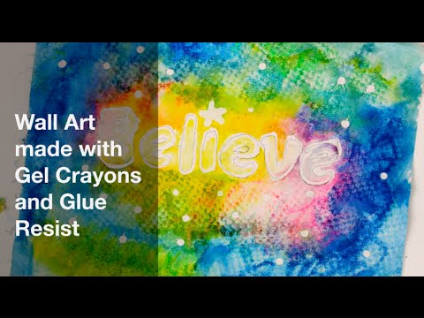 Gel Crayon Resist Wall Art - YouTube