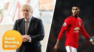 Footballer Marcus Rashford Calls for Government U-Turn over Free School Meals | Good Morning Britain