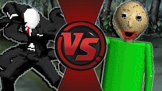 BALDI vs SLENDER MAN! (CreepyPasta vs Baldi's Basics Animation) Animation Rewind
