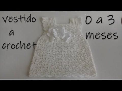 8bf20323e vestido tejido a crochet para bebe -0 a 3 meses - YouTube