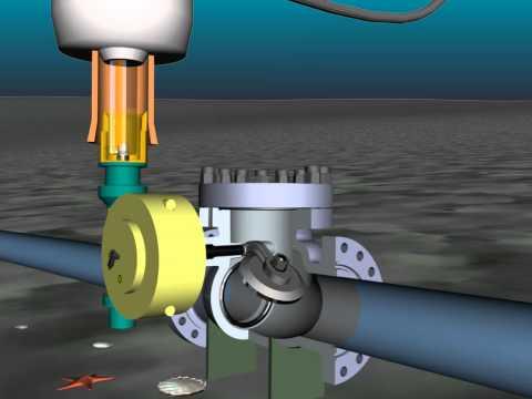 swing check sub sea valve (ROV operator)