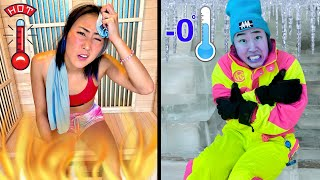 EXTREME HOT VS. COLD CHALLENGE!!